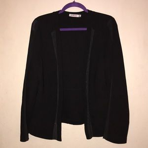 Justfab blazer with sheer detailing.